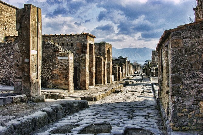 Private Day Excursion by Train and Car: Pompeii, Herulaneum, Vesuvious, Naples
