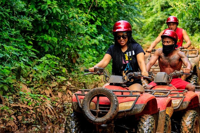 Adrenaline Tour with ATV Single, Ziplines and Cenote from Cancun Hotel zone