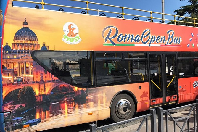 Open Bus Tour in Rome with Interactive Game Kit for Children