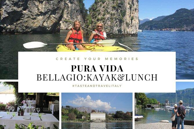 PURA VIDA - BELLAGIO: Kayak & Lunch + Villa Melzi