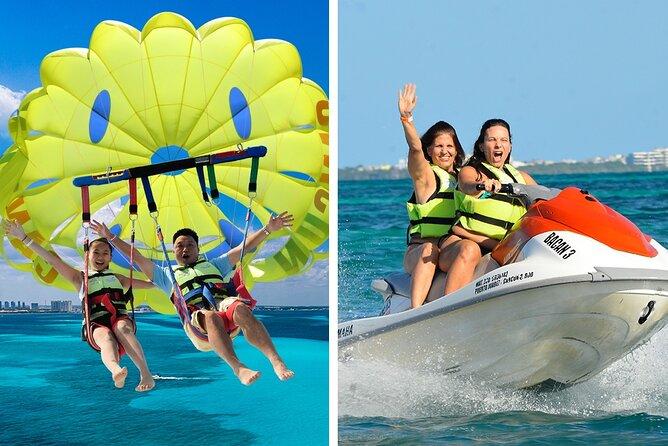 Jet Ski + Cancun Seaside Parasailing Combo Tour with transportation
