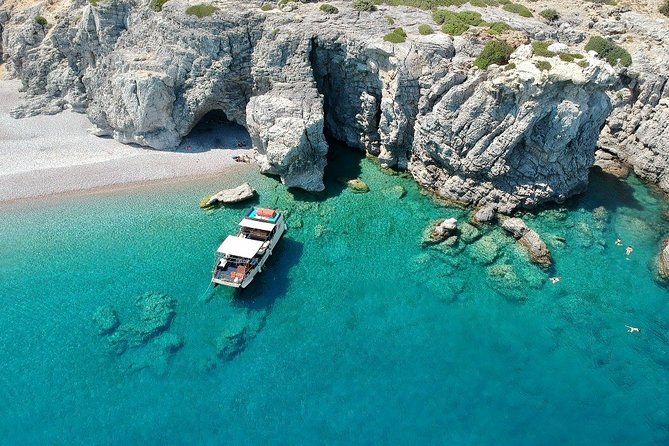 3-Hour All Inclusive Swimming Cruise to Anthony Quinn, Ladiko and Traganou Caves