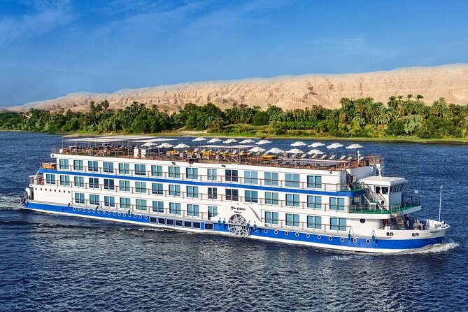 6 Days Nile Cruise Aswan to Luxor with Tours & Cairo Seated train Round Trip