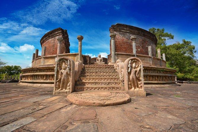 Polonnaruwa Ancient Kingdom and Wild Elephant Safari from Dambulla