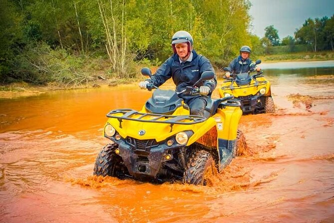 One hour quad ride between Nantes and La Baule