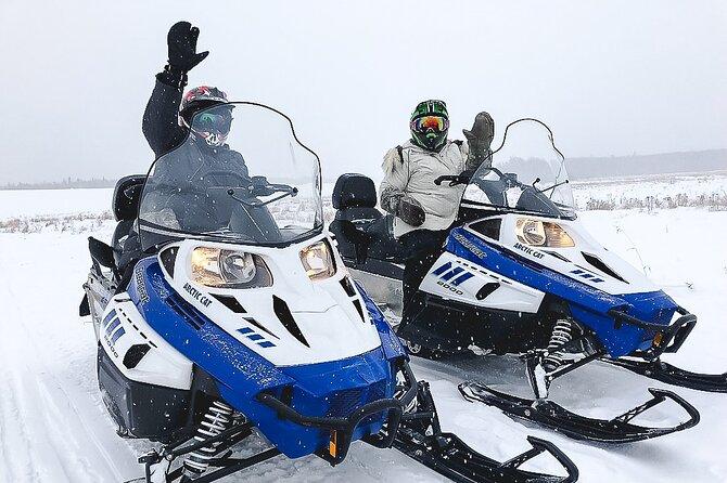 Fairbanks Sneeuwscooteravontuur van Noordpool 1 uur
