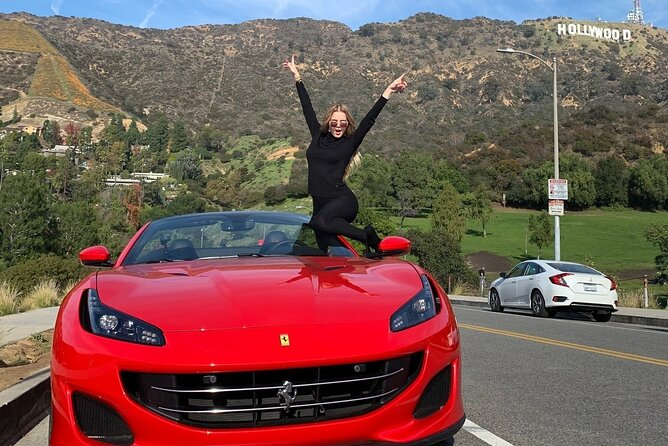 Best Ferrari California T Private Tour to Hollywood Sign View Point