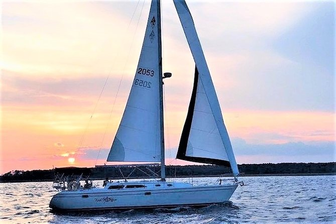 2.5-Hour Private Hilton Head Sunset Dolphin Watching Sail
