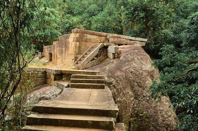 Ritigala, Kala Wewa and Namal Uyana from Dambulla