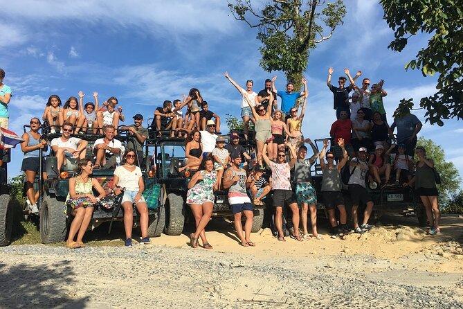 Koh Samui Jeep Tour (Waterfall, Waterslides, Zipline & Lunch)