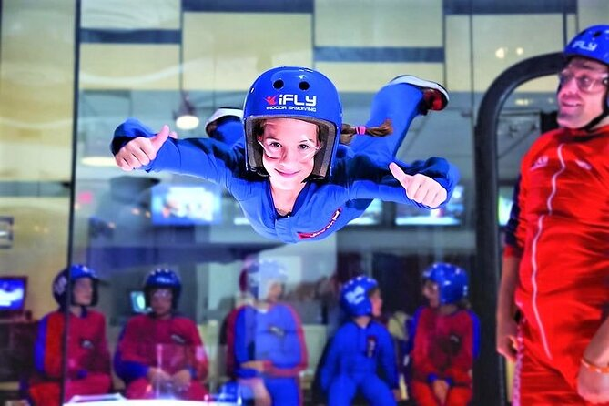 Montgomery Indoor Skydiving Experience with 2 Flights & Personalized Certificate