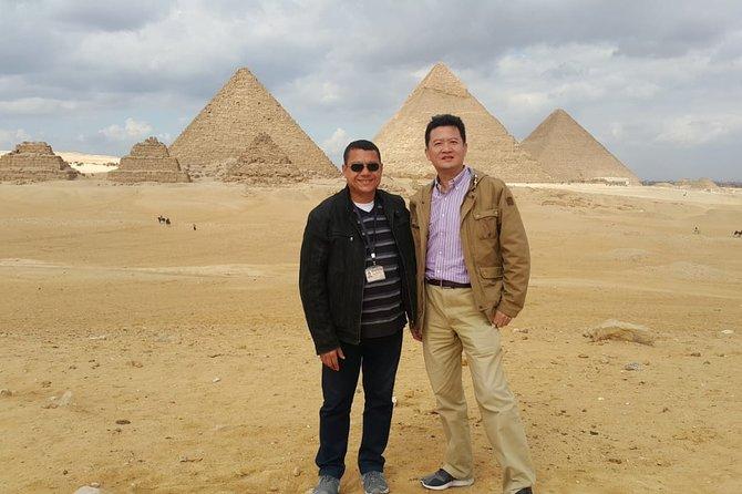 Cairo : 4 Sites Giza Pyramids, Sakkara , Memphis and Dahshur Private Guided tour