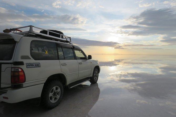 Spectacular Sunset in Uyuni Salt Flats from Uyuni