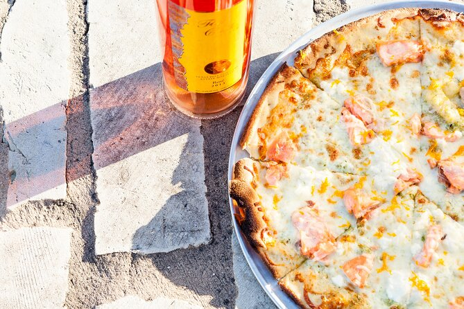 Rosé Wine & Chef's Featured Salmon Pizza (Seasonally Available)