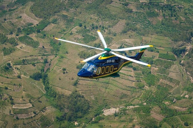 Private Helicopter Flight: from Kigali Airport to Akagera National Park