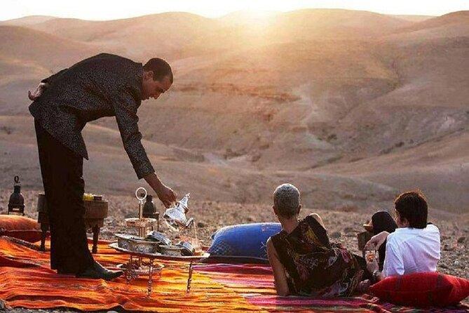 Magical Dinner In Agafay desert & Sunset Camel Ride from Marrakech