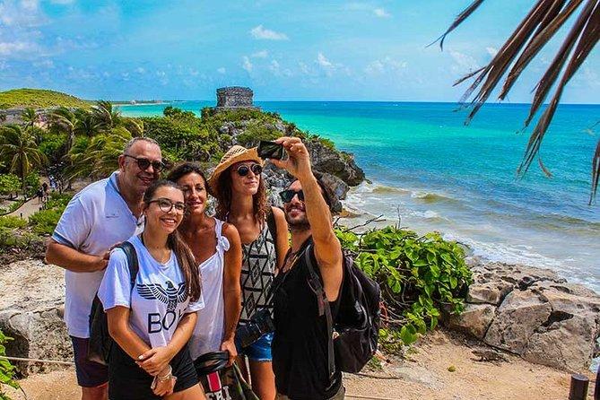 Tour: Tulum, 2 cenotes, Lagoon Kaam Luum & Playa del Carmen 5 places for 1 Price