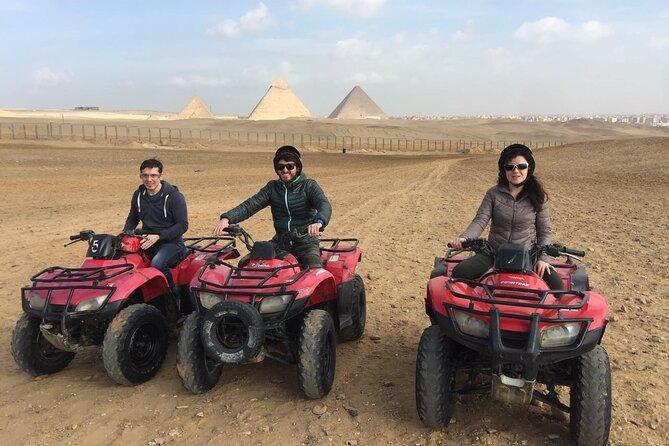 Cairo: Giza Pyramids COMBO Guided Tour with Quad Bike Safari & Camel Ride