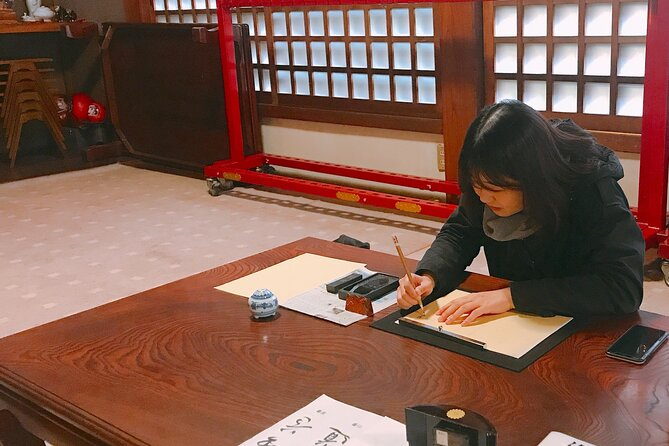 Shakyo Sutra Copying Experience at Gionji Temple in Tokyo