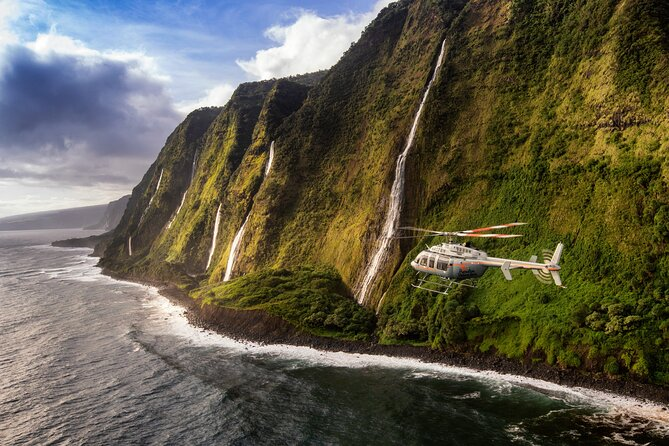 Private Kohala Coast & Waterfalls Helicopter Tour from Kona on Hawaii Island