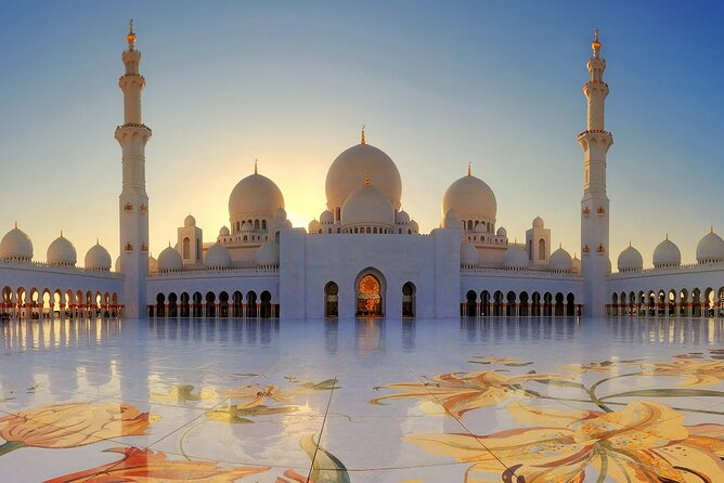 Enjoy The Abu Dhabi, Grand Mosque, Etihad Towers & Royal Palace Visit from Dubai