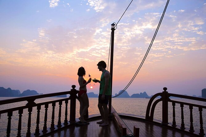 Sunset cocktail and dinner on the Emperor cruise on Nha Trang Bay