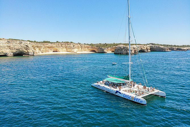Half Day Sailing Cruise by Catamaran to Benagil Caves and Carvoeiro