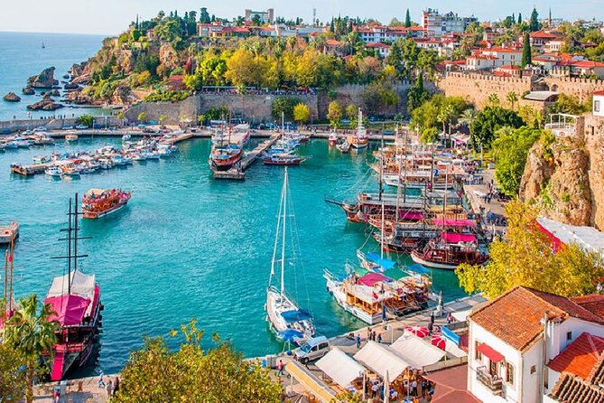from Belek: Antalya City Tour with Waterfall & Cable Car & Lunch