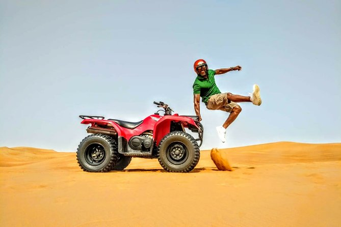 Sunset Camel Trek & Red Dunes Safari with BBQ at Al Khayma Camp From Dubai