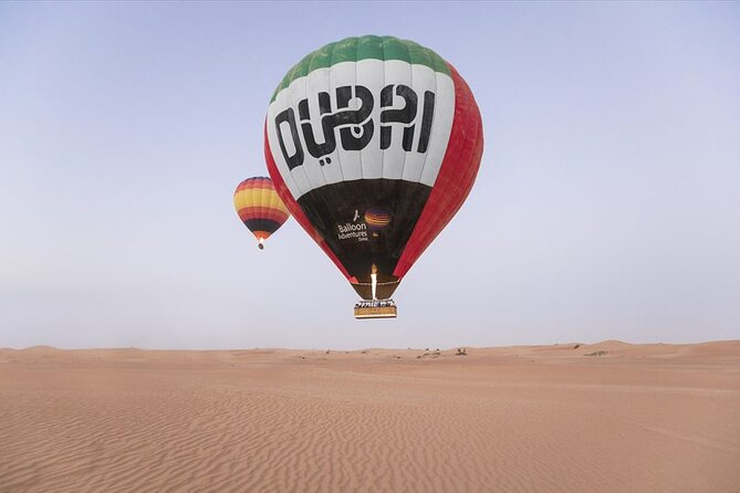 Amazing Views Of Dubai Beautiful Desert By Hot Air Balloon From Dubai