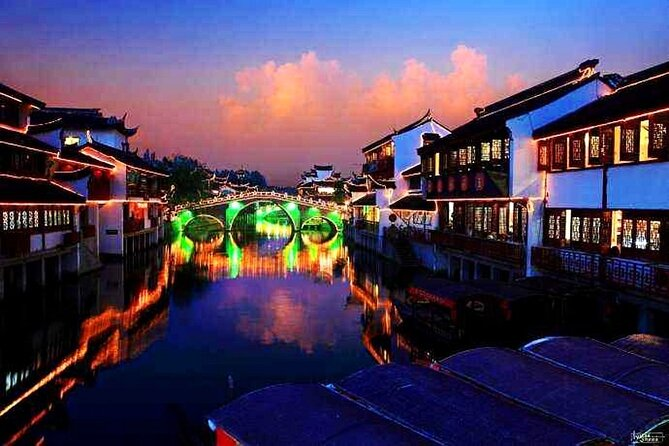 Qibao Ancient Water Town Private Tour with Night River Cruise