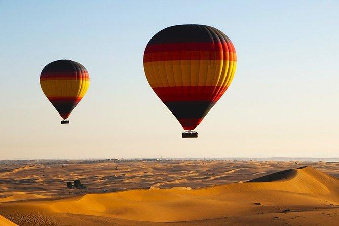 Views Of Dubai Beautiful Desert By Hot Air Balloon From Dubai