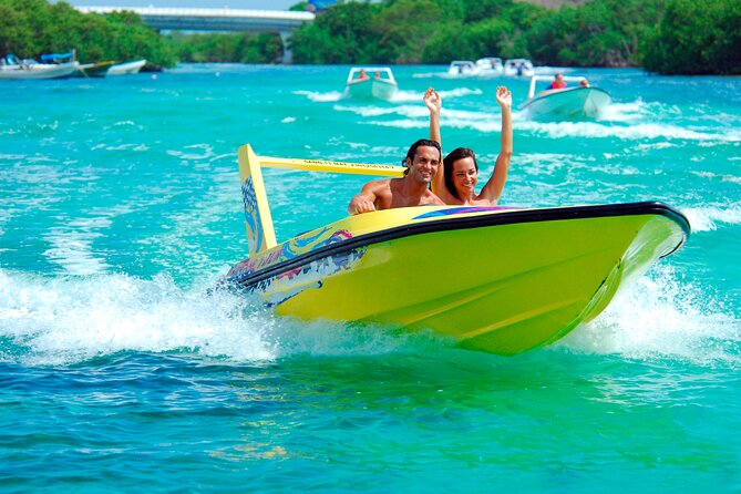 Jungle Adventure Tour in Cancun by Speedboat with Snorkeling