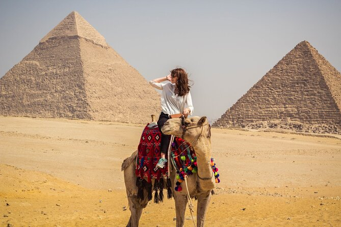 Half-Day Trip to Giza Pyramids and Sphinx with 30 M Camel-Riding