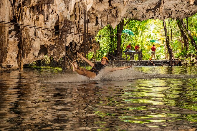 2 -in-1 Jungle Adventure Combo: ATVs, Cenote,underground river and zip lines