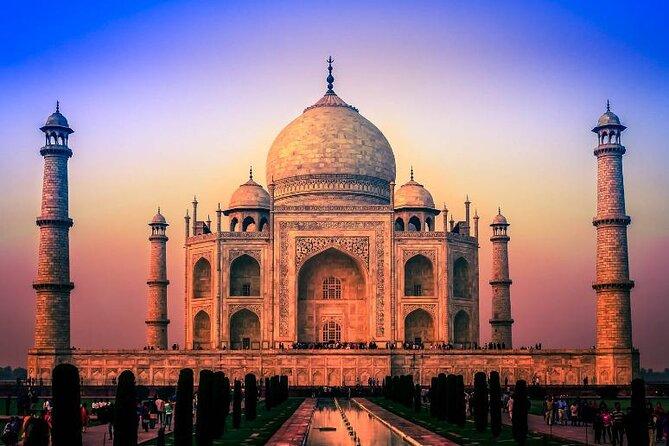 Morning Yoga Session Facing Taj Mahal