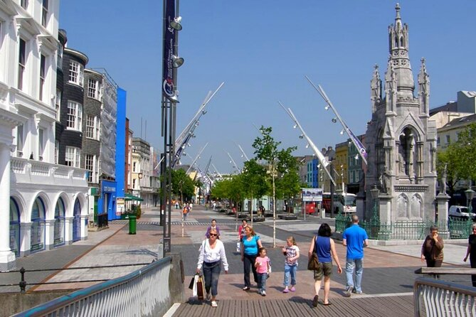 Heritage & cultural walking tour of Cork city. Guided. 2 hours.
