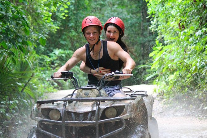 Adrenaline in Atv (shared) Zipline and Cenote