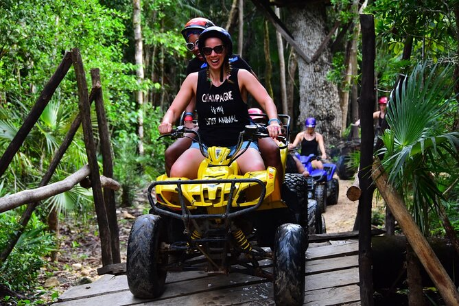 Adrenaline and Emotion in Atv (shared) Zipline and Cenote