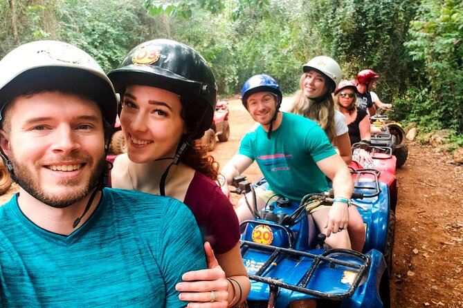 ATV (shared) Zipline and cenote Includes Lunch
