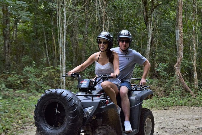 From Playa del carmen Experience ATV (Shared) Zipline & Cenote- Includes lunch