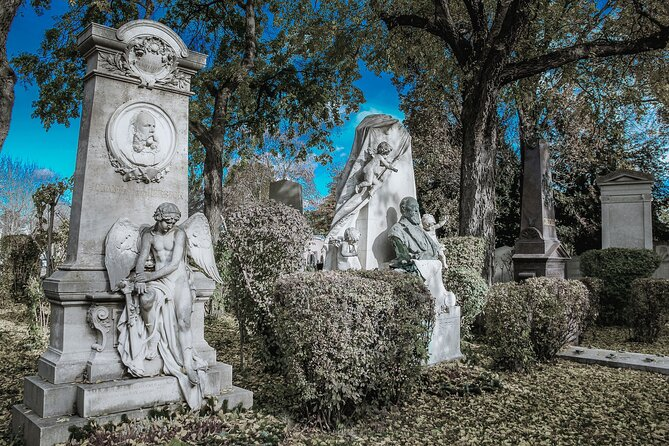 Magical central cemetery of Vienna