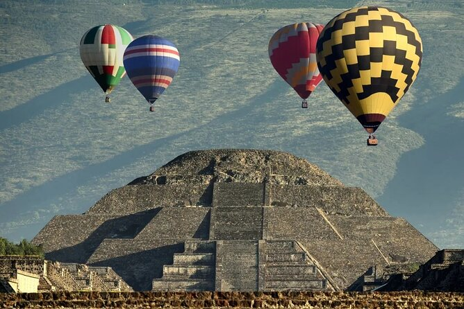 Hot Air Balloon Ride and Teotihuacan Pyramids Excursion