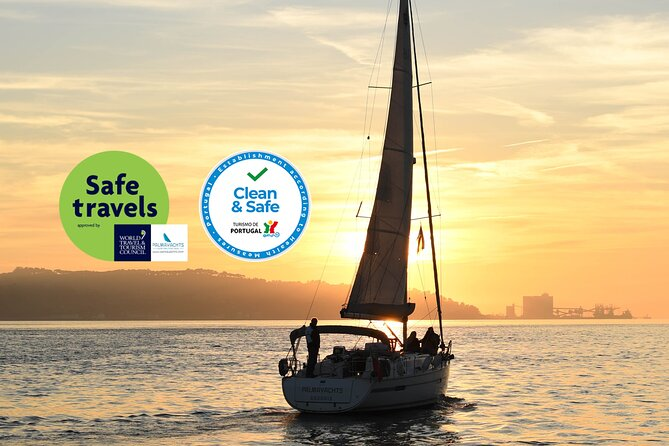 Lisbon Best Sunset Sailing Cruise - 2h Small Group Tour, with a Drink Included