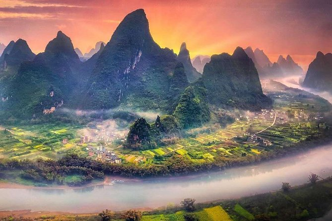 1-Day Guilin City Tour and Ends of Yangshuo from Longji Rice Terraces