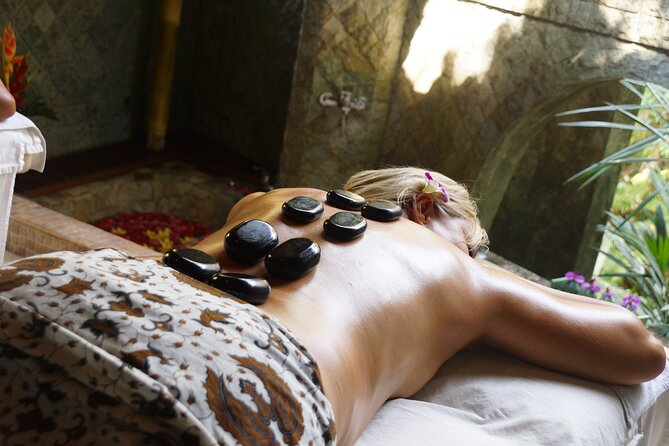 Warm Stone Massage to Release Muscular Tension