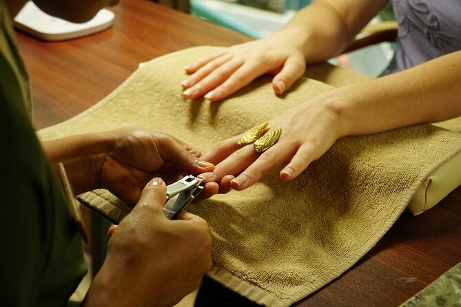 Manicure or Pedicure Without Polish