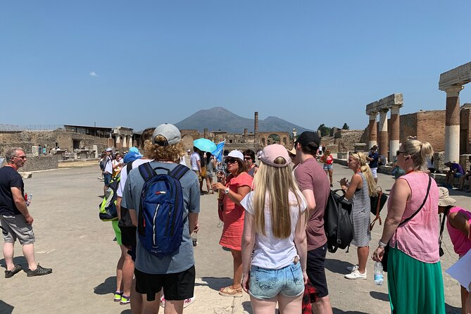 Day Trip to Pompeii Ruins & Mt. Vesuvius Volcano from Naples