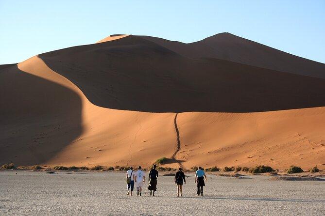 Climb the dunes in the Namib Desert