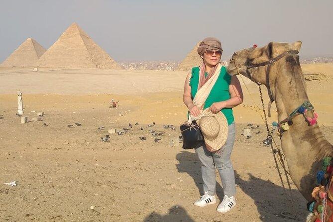9 Hrs tour to Pyramids of Giza Dahshur Sakkara and Memphis incl Camel with Lunch